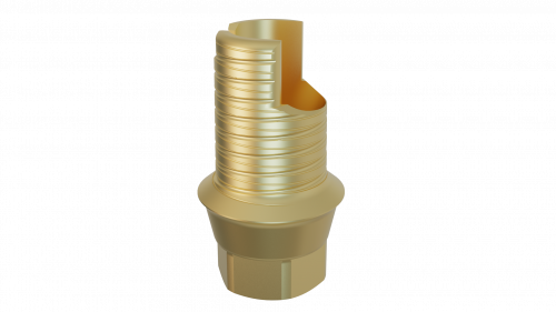 Elos Accurate® Hybrid Base H™ Engaging Nobel Conical Connection and NobelActive® 5.5 WP